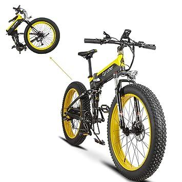 Plegable eléctrico Cruiser Bike extrbici T750 500 W 48 V 10 Ah oculta recargable grasa bicicleta