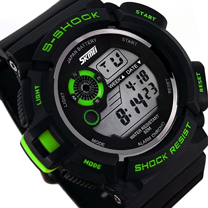 Amazon.com: Relojes de Hombre Sport LED Digital Military Water Resistant Watch Digital Men De Hombre Para Caballero: Sports & Outdoors