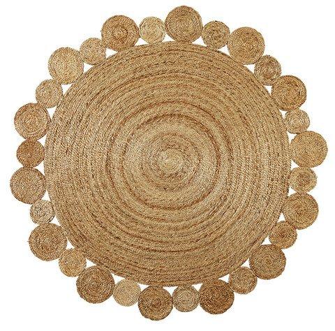 Green Decore Handmade Braided Round Natural Fiber Jute Rug (Artisan Natural, 6 feet 7 inch Diameter)