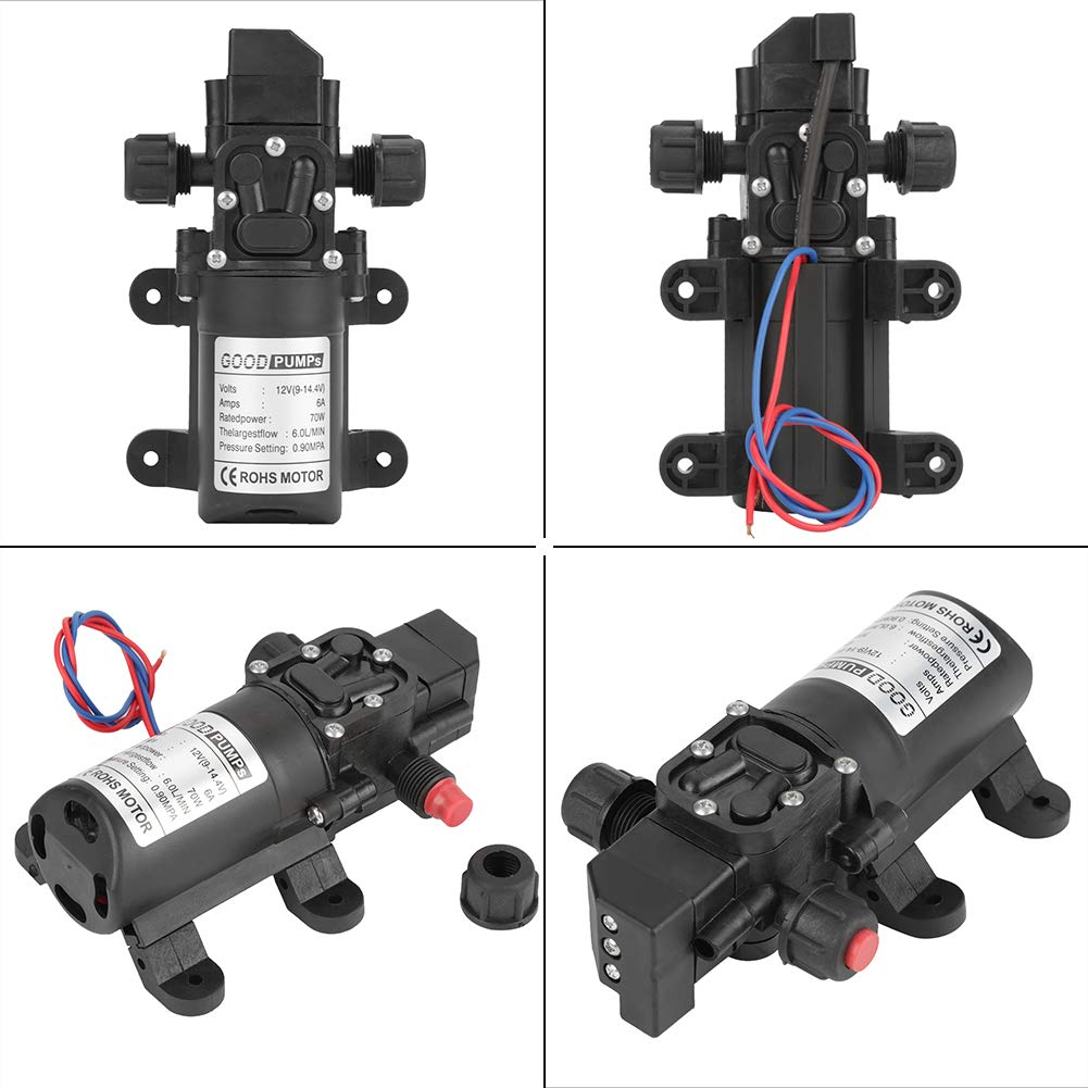 Diaphragm Pump Small Water Pump DC 70W Water Pump 12V Water Pump 12V Pump for Water Drill Adding Water Spraying Cleaning Water Pump