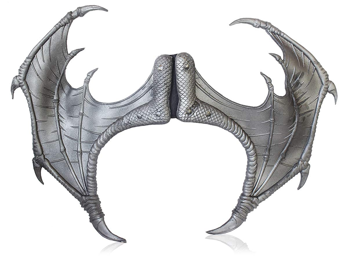 Tail 3-Piece Halloween Dragon Costume for Adults Wings Medieval Fantasy Mask