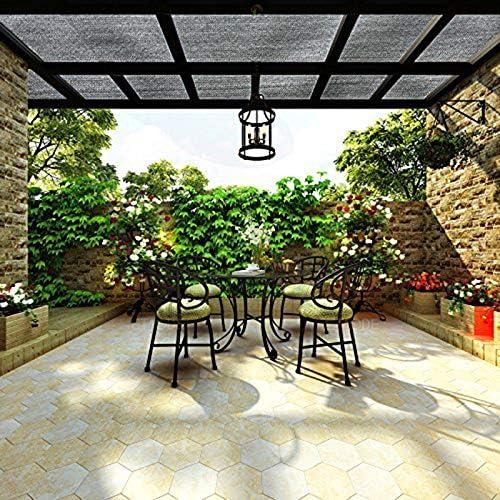 SHKY Tela de Sombra 90% Bloque UV para pérgola/Patio/Jardín/Invernadero/Marquesina, Encriptación Tejido Malla Balcón Protector Solar Cubierta de Invernadero Cubierta de pérgola: Amazon.es: Hogar