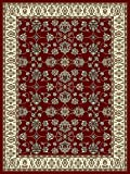 Large Rugs for Living Room 8x11 Red Traditional Clearance Area Rugs 8x10...