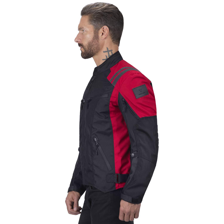 Viking Cycle Ironborn Motorcycle Textile Jacket For Men Black, XXXX-Large