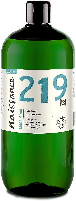 Naissance Linaza Virgen BIO- Aceite Vegetal Prensado en Frío 100% Puro - Certificado Ecológico - 1 Litro