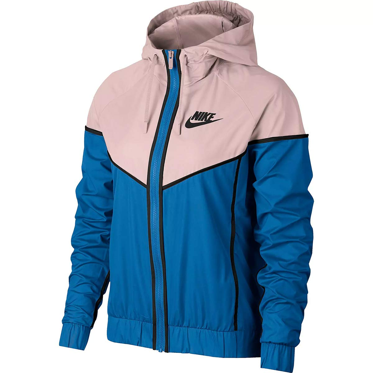 Nike Womens Windrunner Track Jacket Signal Blue/Crimson Tint/Black 883495-403 Size Small by Nike