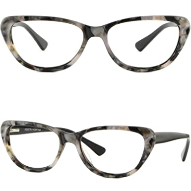 Amazon.com: Women\'s Cateye Acetate Frames Spring Hinges Glasses ...