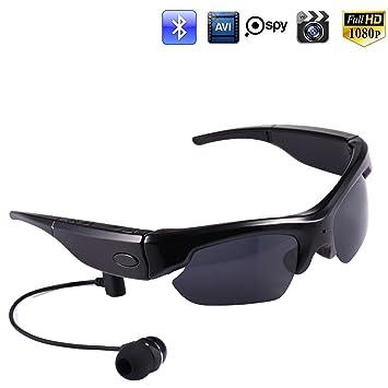 ca7fe9ba4fc Jiusion 16GB Hidden Polarized Sports Sunglasses Camera HD 1080P Bluetooth  4.0 Spy Cam Glasses for iPhone