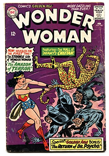 WONDER WOMAN #160 1st Silver-Age CHEETAH 1966-DC- comic book (Cheetah Woman Wonder)