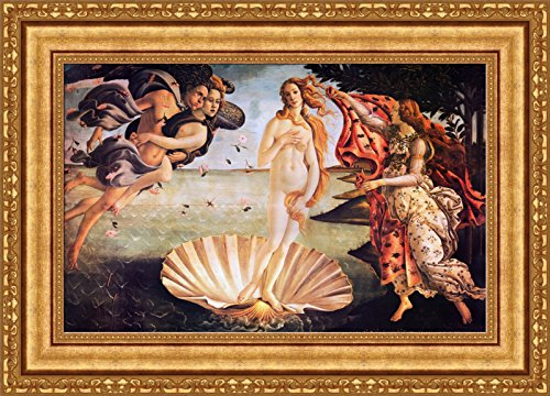 FOREVER Sandro Botticelli The Birth of Venus Framed Canvas Giclee Print - Finished Size (W) 28.1'' x (H) 20.1'' [Gold] (V07-42K-MD535-01)