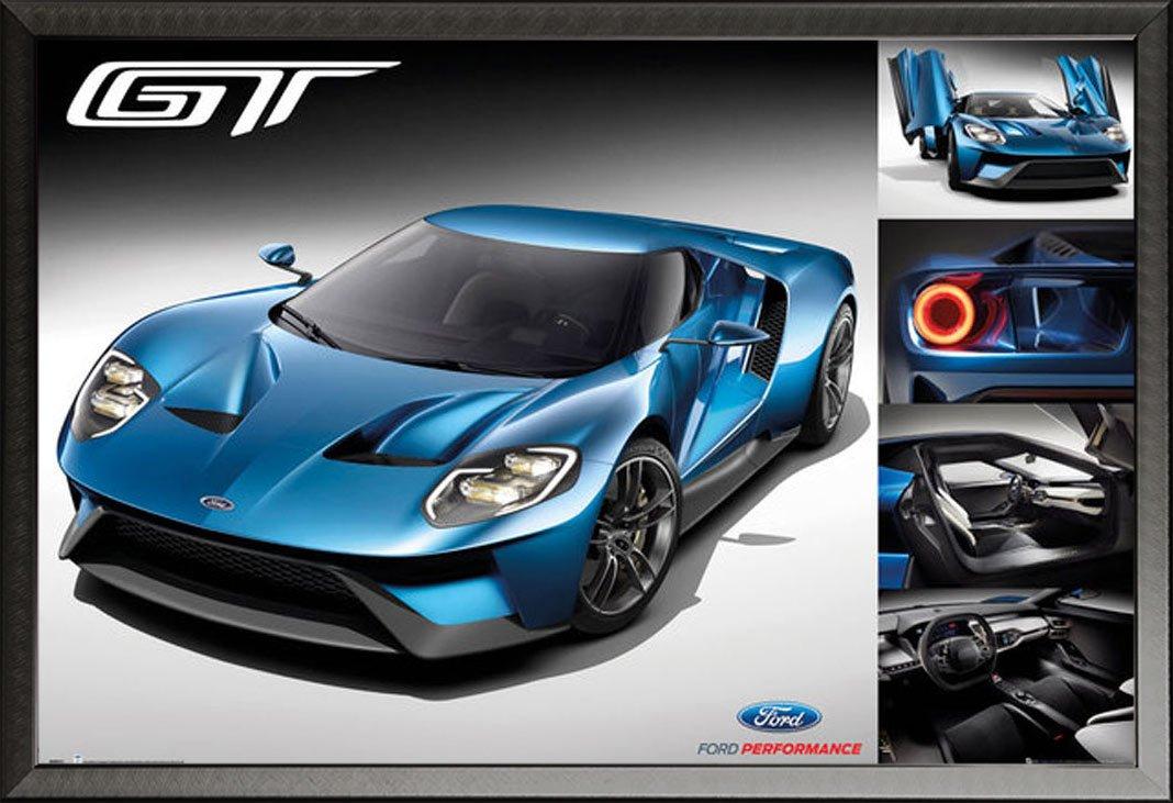 Autos - Ford GT 2016 - Car Poster Plakat Druck - Größe 91,5x61 cm + ...