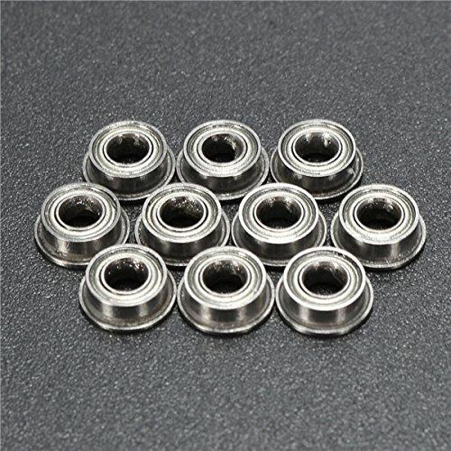 10pcs MF63ZZ 3x6x2.5mm Double Hitommy Shielded Flange Ball Bearings