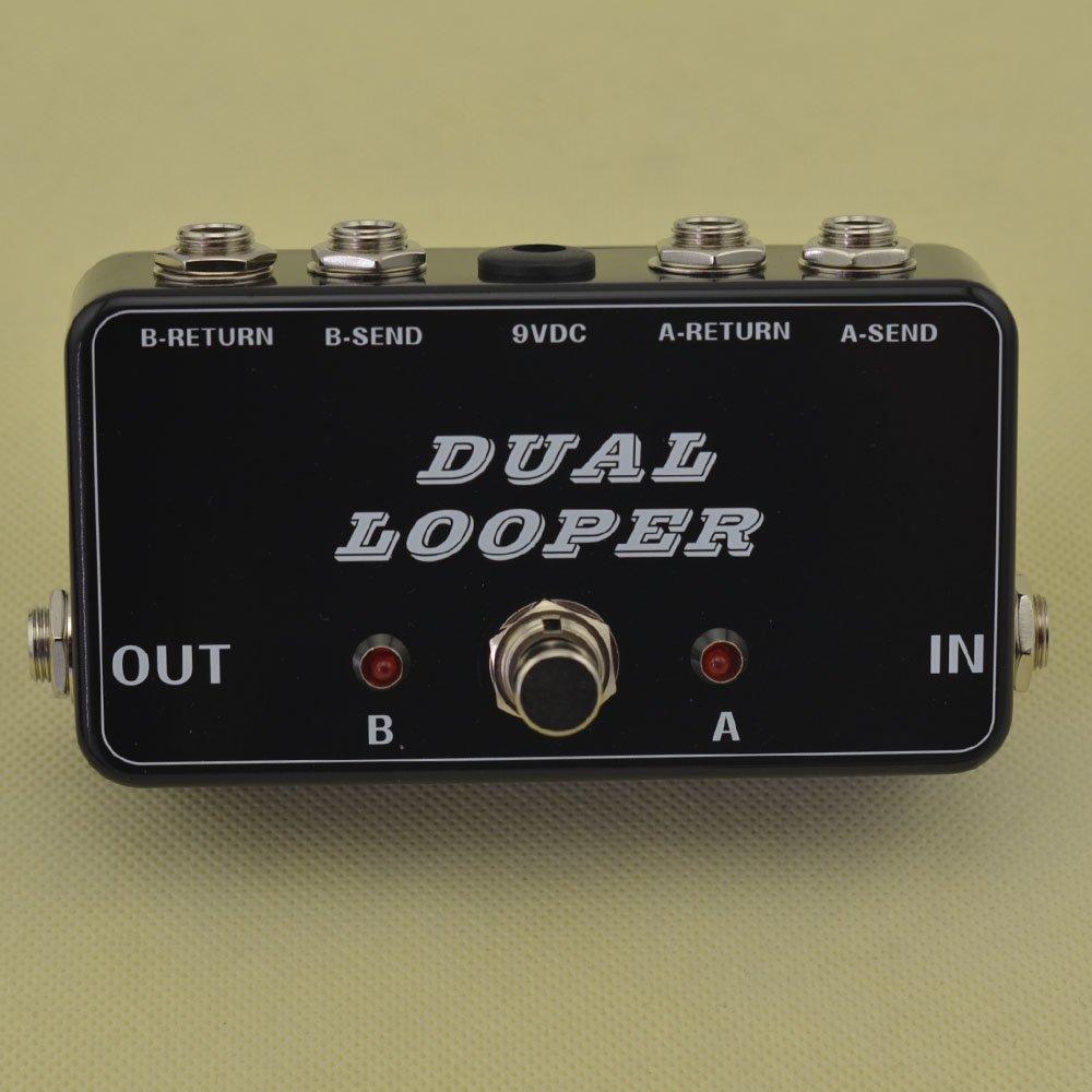 New True-Bypass Looper Effect Pedal Guitar Effect Pedal Looper Switcher true bypass guitar pedal Light Black dual Loop switch