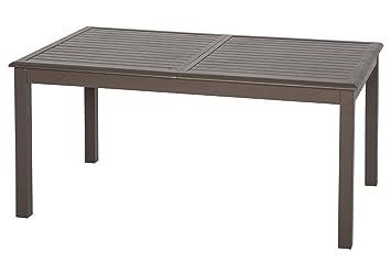 Table extensible rectangulaire Azua Alu 8/12 places Tonka: Amazon.fr ...
