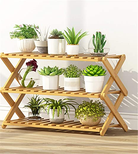 3 Tiers Wooden Plant Stand Pot Flower Holder Display Rack Balcony Home Decor UK