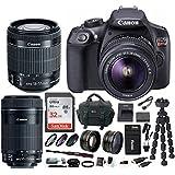 Canon EOS Rebel T6 DSLR Camera w/EF-S 18-55mm & EF-S 55-250mm Lens Bundle