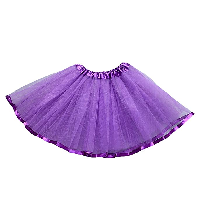 8cff92c707 dragonaur 3 Layers Kid Girls Solid Color Mesh Ballet Dance Dress Pettiskirt  Party Costume Tutu Skirt: Amazon.co.uk: Clothing