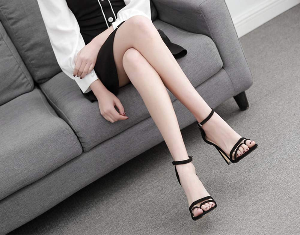 GHFJDO Damen Stilettos Sandalen, Sommer Wildleder Open Toe Stiletto Stiletto Stiletto Heels, Mode Neue Knöchelriemen Schuhe für Kleid Hochzeit Party Abend Büro B07PZ7GH7Q Sport- & Outdoorschuhe Viele Stile ed5059