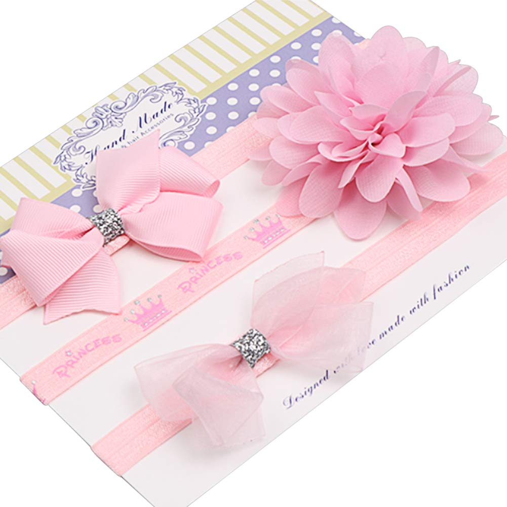 Baby Gifts and Christening 3 Pieces Jmitha Baby Girls Kids Turban Hair Band // Headband Baby Accessories