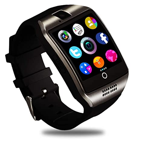 Smartwatch, Impermeable Reloj Inteligente Redondo con Sim Tarjeta Camara Whatsapp, Bluetooth Tactil Telefono Smart Watch Smartwatches para Android iOS ...