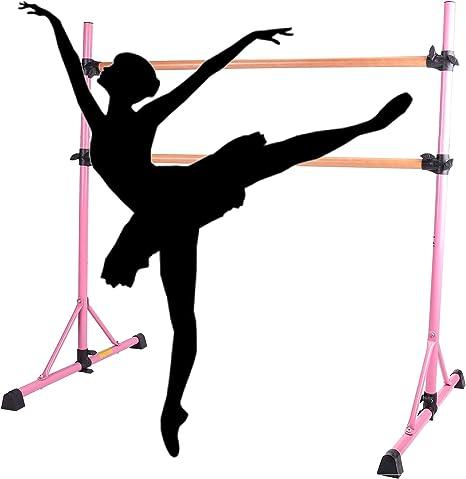 Z ZELUS Double Barre de Danse Classique pour Stretching pour Enfants et Adultes Amovible Hauteur R/églable Charge Maximal 150 KG Portable et Autoportante 152 x 96 x 150 CM