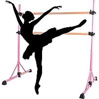 HIRAM barre balletstang in hoogte verstelbaar balletbar vrijstaande dansstang stretch barre dubbele stang…