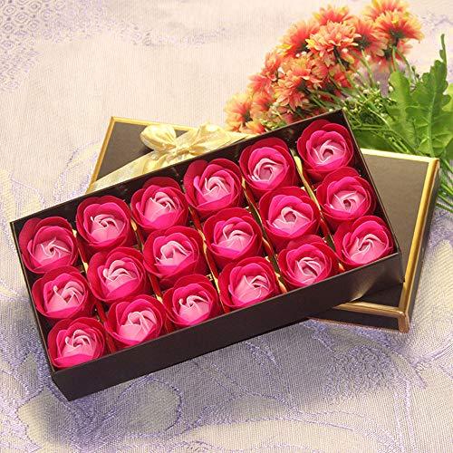 Flower Soap,NszzJixo9, 18Pcs Heart Scented Bath Body Petal Rose Flower Soap Wedding Decoration Gift,Paper Fancy Soap, Flavor (F)