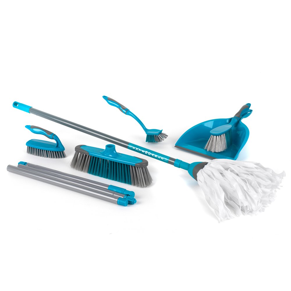 Beldray Dustpan and Brush Sets Master (5-Piece Cleaning Set with Extendable Cloth Mop)