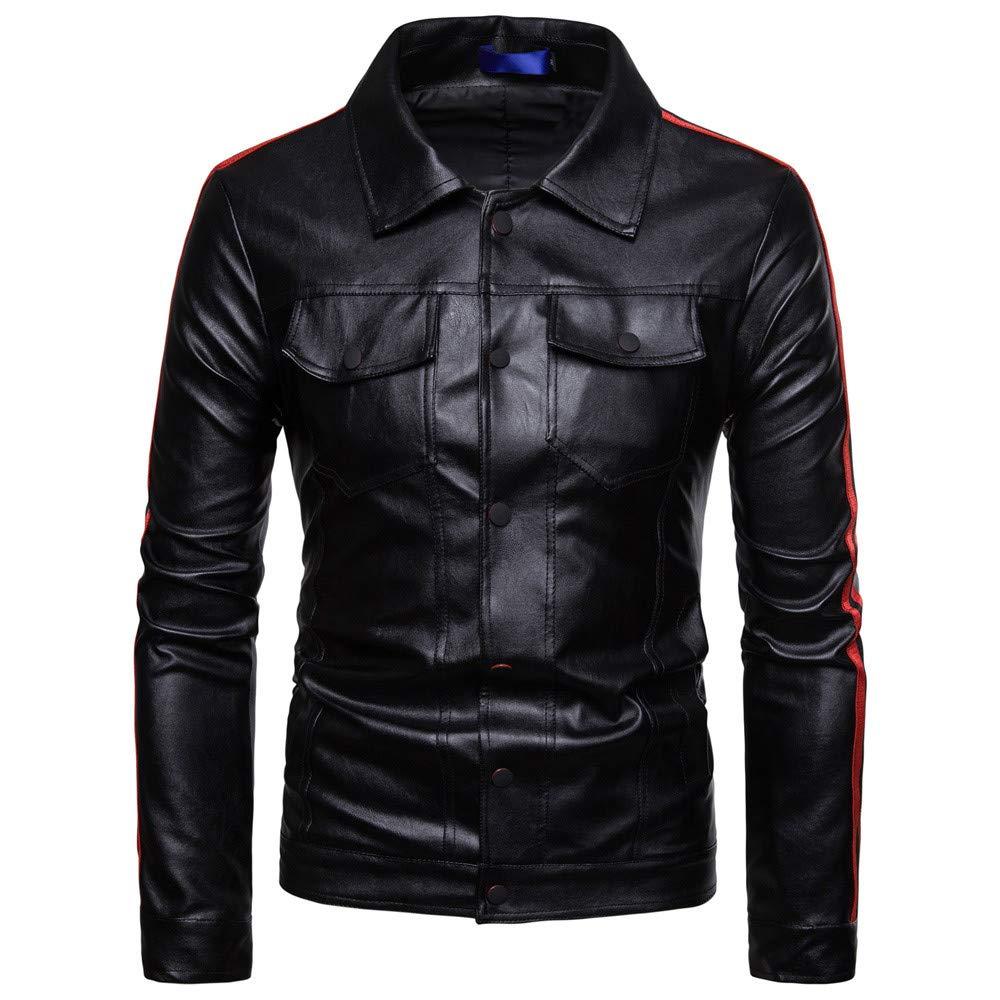 Black L Black L Ennglun Military Jacket Men,Men's Splicing Jacket Splicing Stand Collar Imitation PU Leather Coat Tops,Windbreaker Men