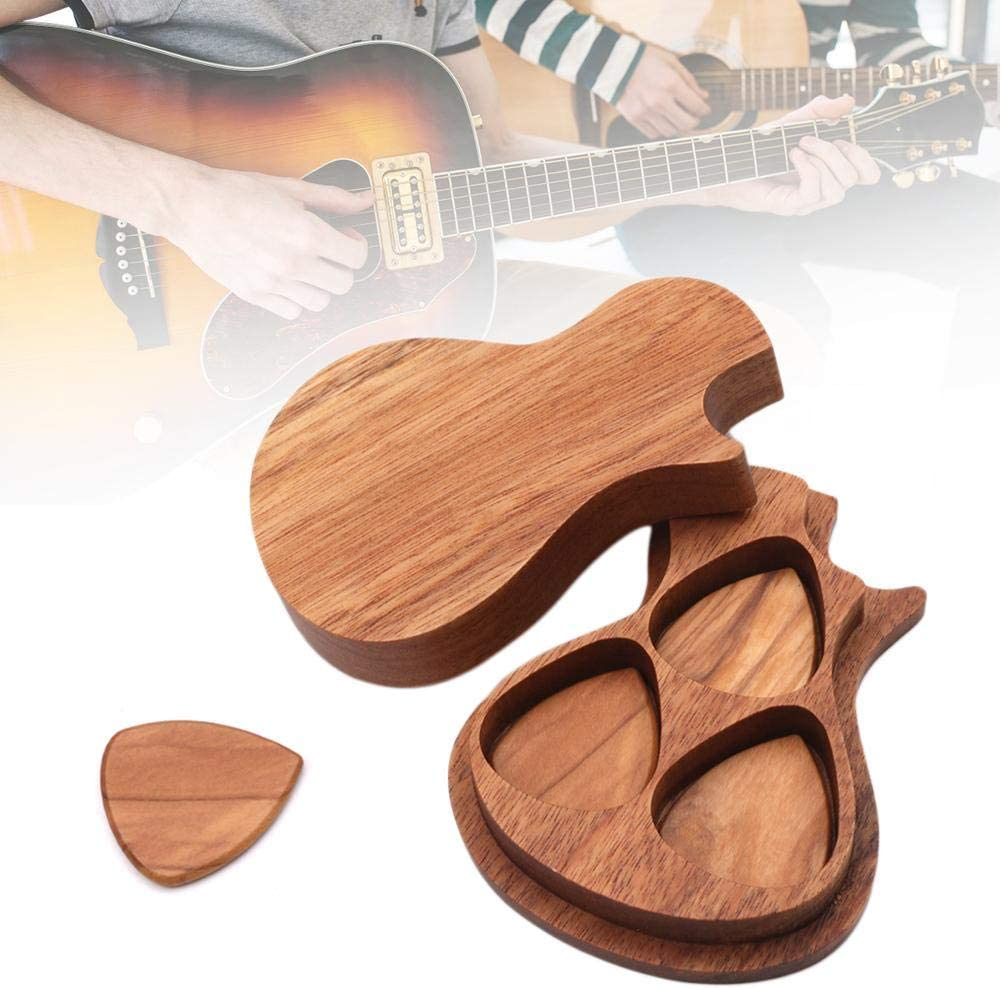 3pcs Guitar Picks Acoustic Plectrums with Soft Pick Holder Storage Case
