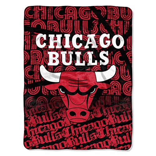 The Northwest Company Officially Licensed NBA Chicago Bulls Redux Micro Raschel Throw Blanket, 46