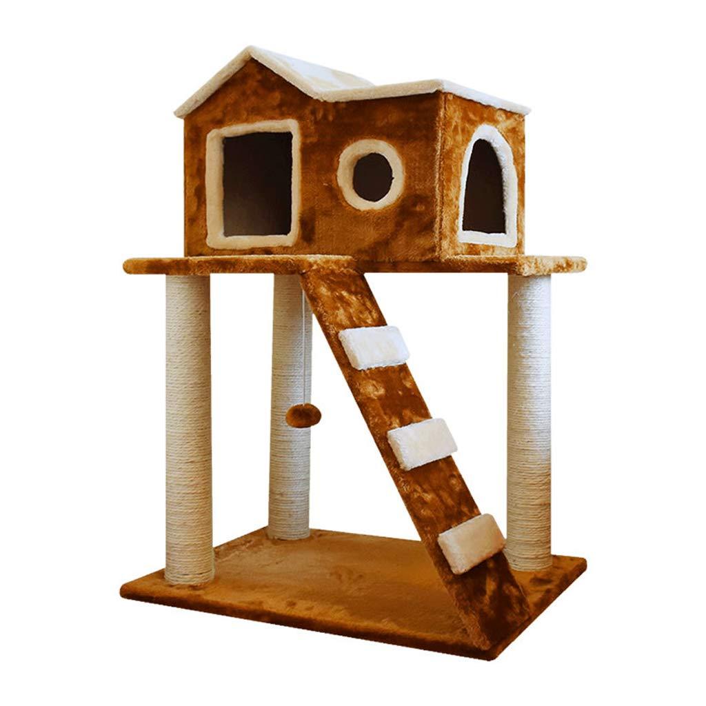 árbol de gato Cat Tree Activity Center Climbing Frame Jumping sisal Cat Toy 1st Floor Play Second Floor Rest