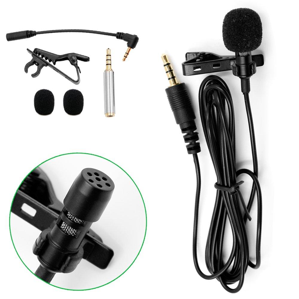 Microfono Lavalier Profesional Microfono De Condensador Omnidireccional Con Clip Para iPhone, iPad, Macbook, Telefonos I