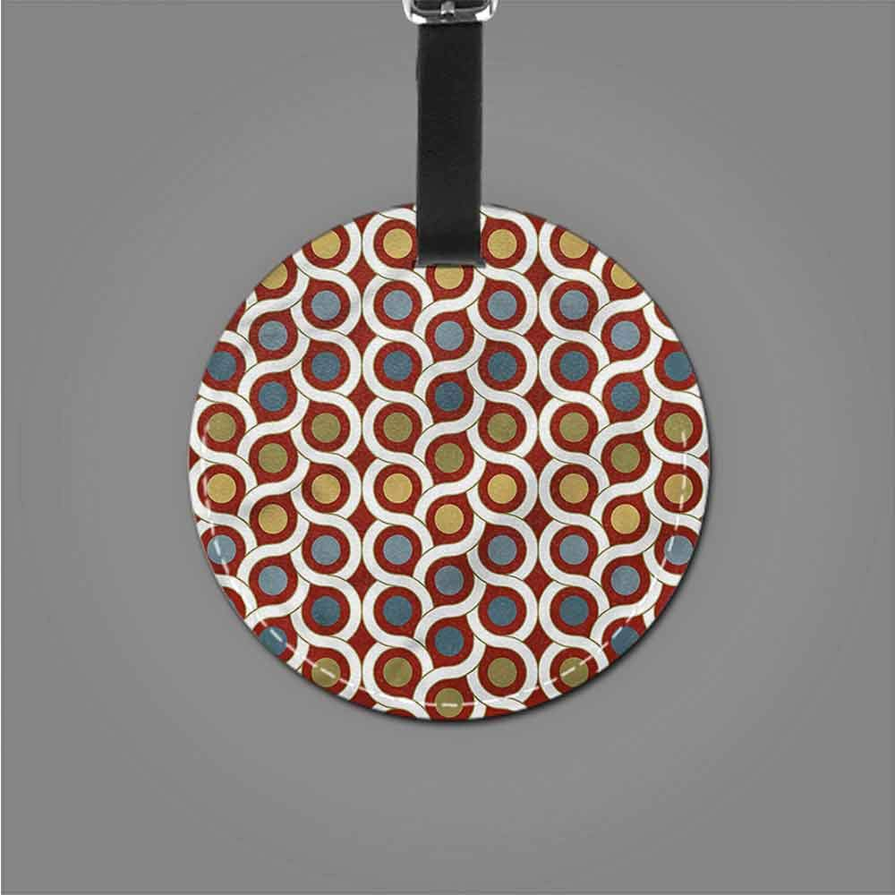 New Creative Luggage Tags Abstract,Circles and Stripes Romantic