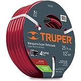 Truper MAN-25x1/2X Manguera Reforzada, 4 Capas, 1/2', 25 m