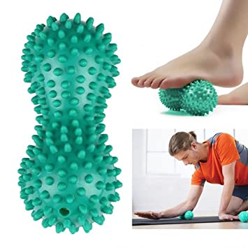 Amazon.com: Peanut forma yoga fitness Spiky masaje bolas ...