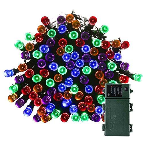 Qedertek Battery Operated Christmas String Lights, 50ft 2...