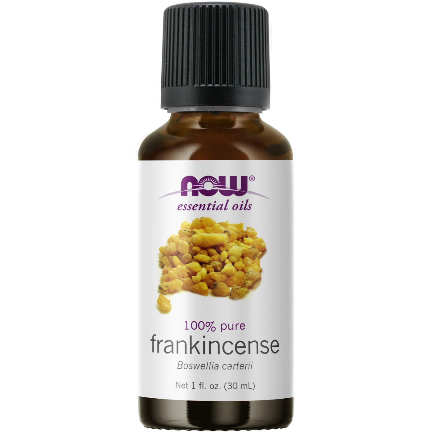 NOW Essential Oils, Frankincense Oil, Centering Aromatherapy Scent, Steam Distilled, 100% Pure, Vegan, Child Resistant Cap, 1-Ounce
