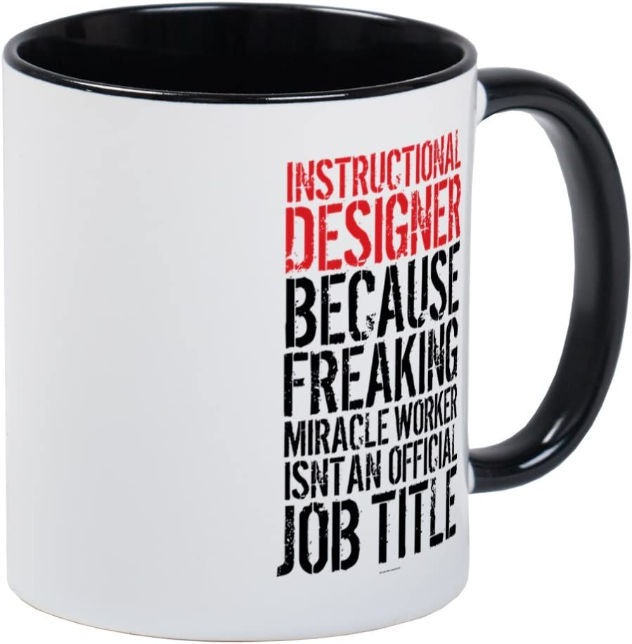 Amazon Com Cafepress Instructional Designer Job Title Mugs Unique Coffee Mug Coffee Cup Kitchen Dining