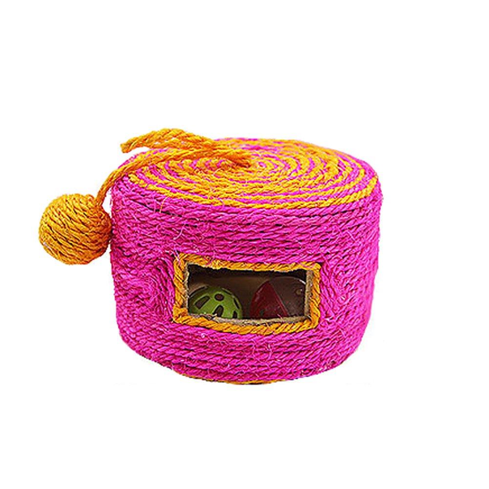 Good01 Pet Cat Sisal Rouleau Arbre à Chaton broyage griffes jouet avec Bell Balles–Couleur aléatoire couleur aléatoire taille unique