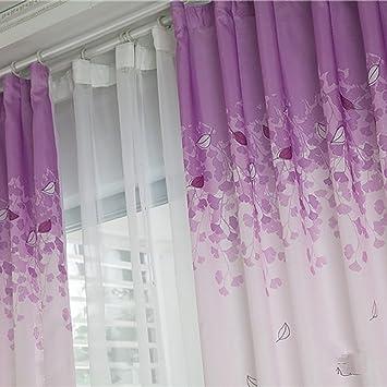Fairlove Rideau Voilage Salon Design Moderne Violet Et Blanc Avec