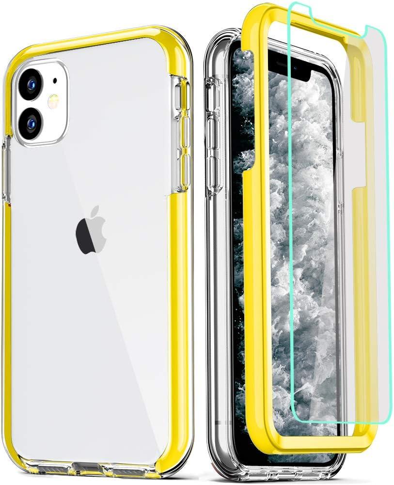 Funda y Protector de pantalla COOLQO para iPhone 11 (35CT)