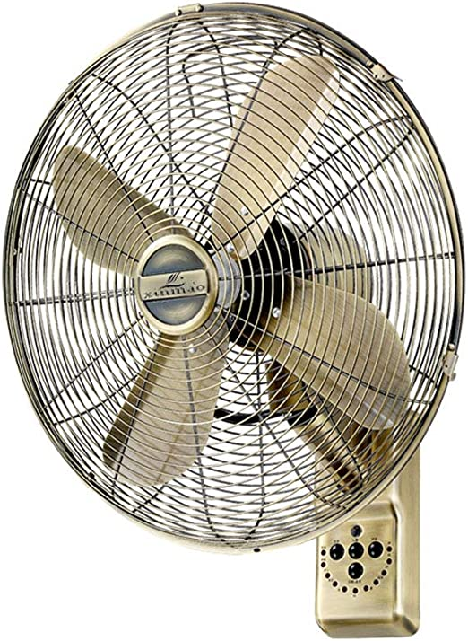 Wall Fan ALY® Ventilador De Pared De Metal Vintage, Oscilante, 50w ...