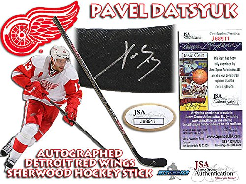 Pavel Datsyuk Signed Detroit Red Wings Hockey Stick JSA Authentication #J68911 - Autographed NHL Hockey Sticks