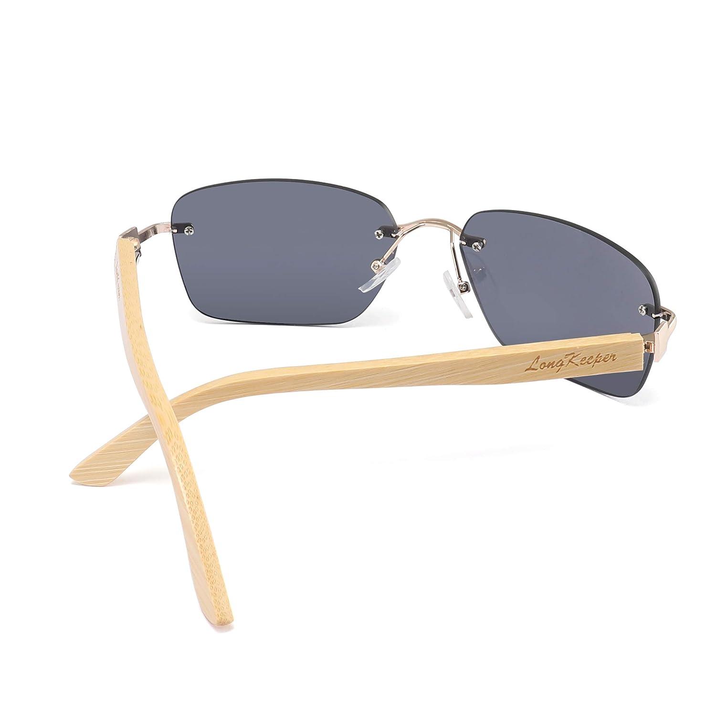 Amazon.com: Long Keeper - Gafas de sol de madera de bambú ...