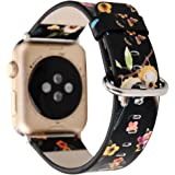 Pantheon Designer Leather Apple Watch Replacement Band for Women by, Over 30 Strap Variations for the 38mm or 42mm, fits Apple iWatch 3, 2, 1 and Nike Edition