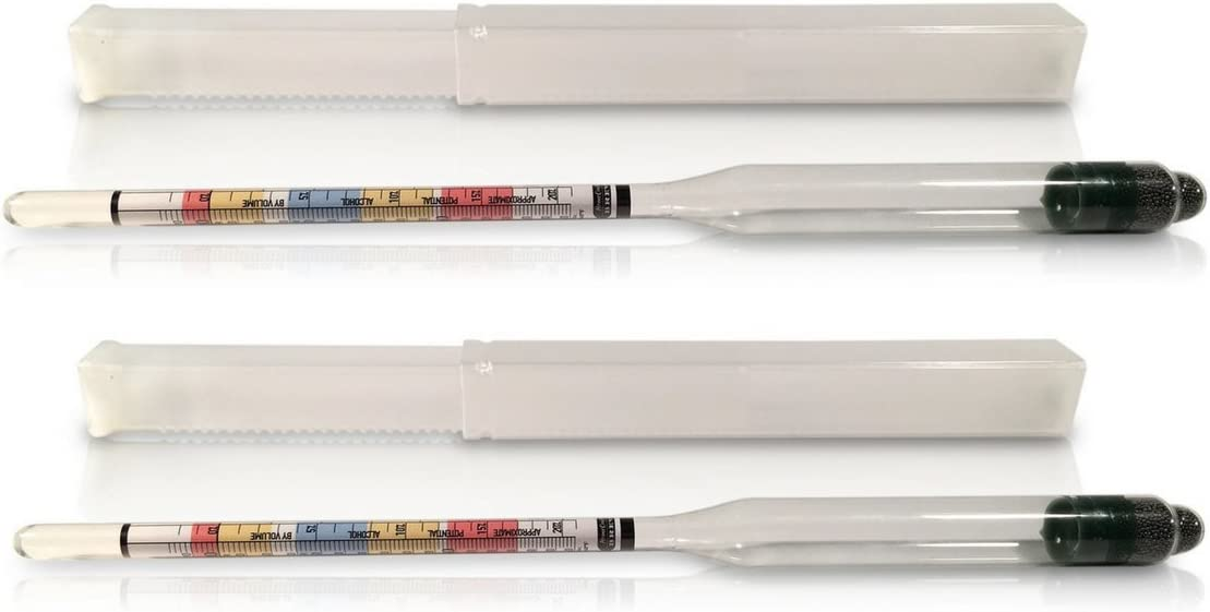 2-Pack Triple Scale Hydrometers for Home Brewing, Craft Beer, Wine, and Cider