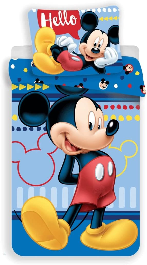 Multicolore Coton 200x90x25 cm Jerry Fabrics Mickey and Friends Drap Housse