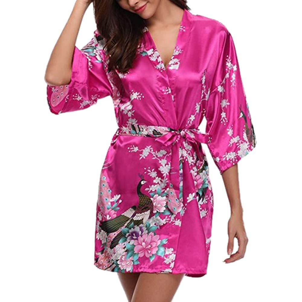 Longra❤ ❤️Vestido de Noche para Mujer Sexy, Ropa de Dormir, lencería, tentación, Vestido con cinturón: Amazon.es: Ropa y accesorios