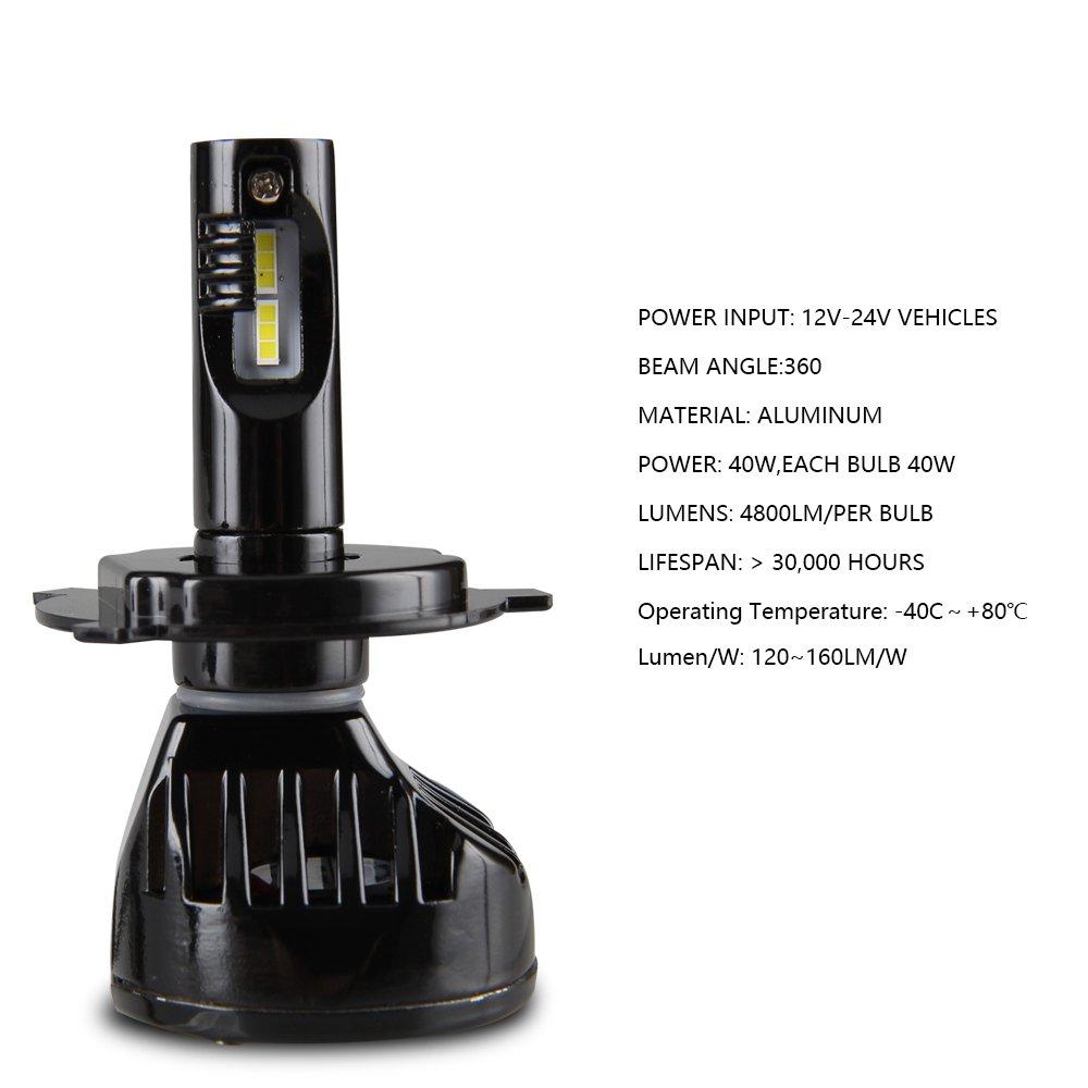 H4 led lampen scheinwerfer birnen auto licht 9600lm amazon auto parisarafo Gallery